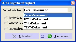 Auftrag-Export-XLS,XML,HTML,TEXT